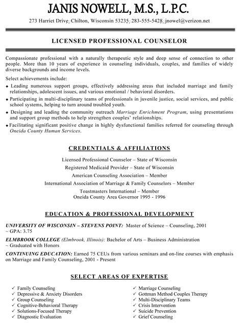 educational counselor resume – Guidance Counselor Resume